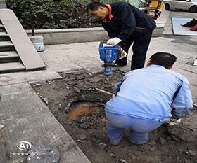 长寿区广场漏水